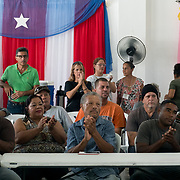 AUGUST 27, 2018--PATILLAS---PUERTO RICO--<br /> Attendees listen to astronomers during a dfistribution event for local farmers at a GUPE center in the Guardaraya community of Patillas.<br /> (Photo by Angel Valentin/Freelance)