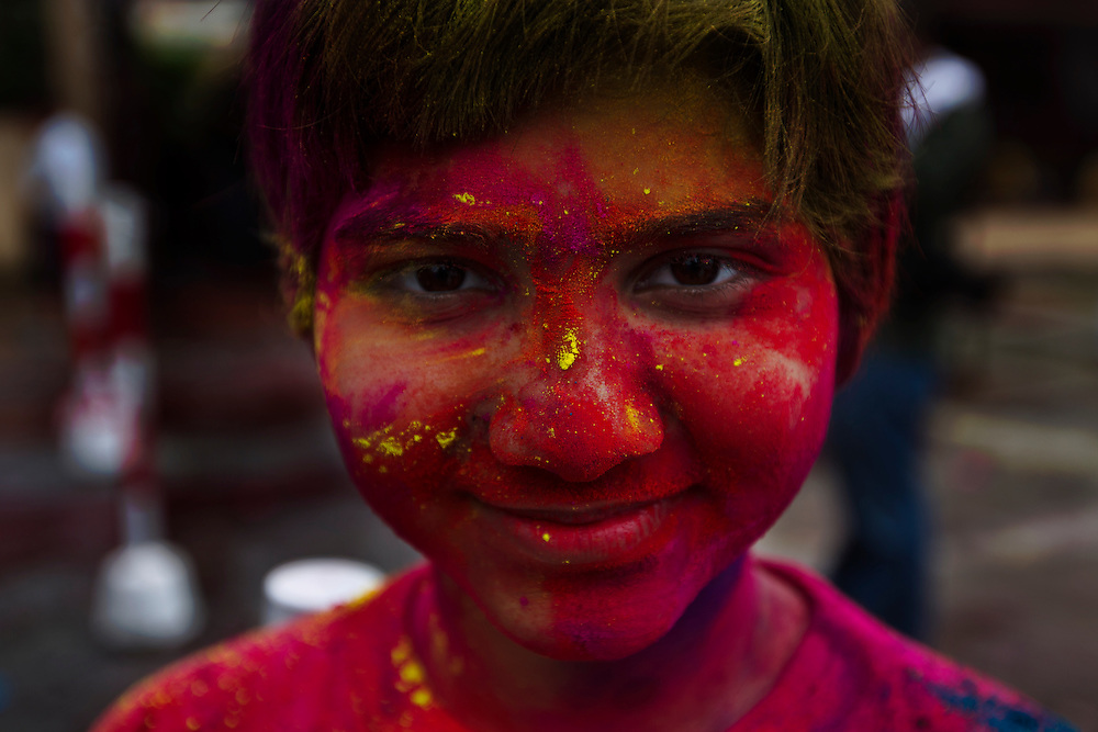 A Hindu Holi festival in Kuala Lumpur, Malaysia. Holi is celebrated at the end of the winter season on the last full moon day of the lunar month Phalguna (February or March), which usually falls in the later part of February or March.