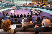 UNITED KINGDOM, London: 26 January 2016 Guests sit in The Chamber of City Hall during a memorial service to remember victims of the Holocaust this morning. The Mayor of London, Boris Johnson, joined members of the London Assembly as well as Holocaust survivors to mark 71 years since the liberation of Auschwitz-Birkenau and to pay tribute to victims of other subsequent genocides. Rick Findler / Story Picture Agency