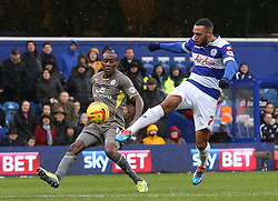 Queen Park Rangers' Matt Phillips comes close with this shot - Photo mandatory by-line: Robin White/JMP - Tel: Mobile: 07966 386802 21/12/2013 - SPORT - FOOTBALL - Loftus Road - London - Queens Park Rangers v Leicester City - Sky Bet Championship
