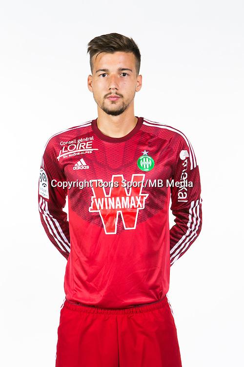Baptiste VALETTE - 06.10.2014 - Portrait Officielle de Saint Etienne - Ligue 1<br /> Photo : Icon Sport