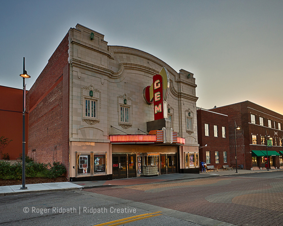 GEM Theater at sunset Kansas City Missouri