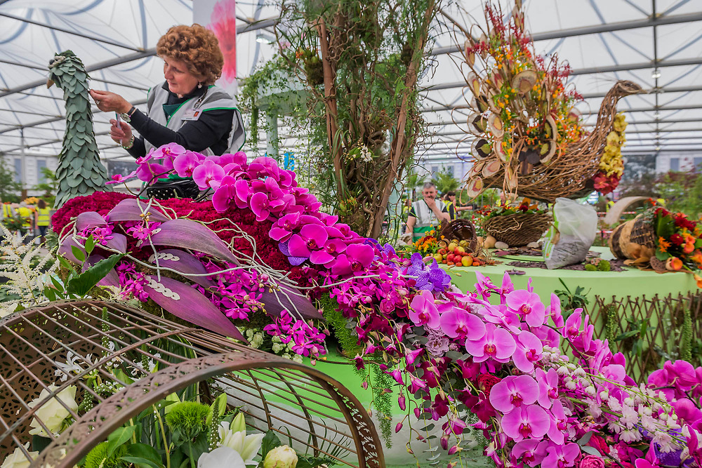 Seasonal Beauty Uncaged by London NAFAS - The RHS Chelsea Flower Show at the Royal Hospital, Chelsea.