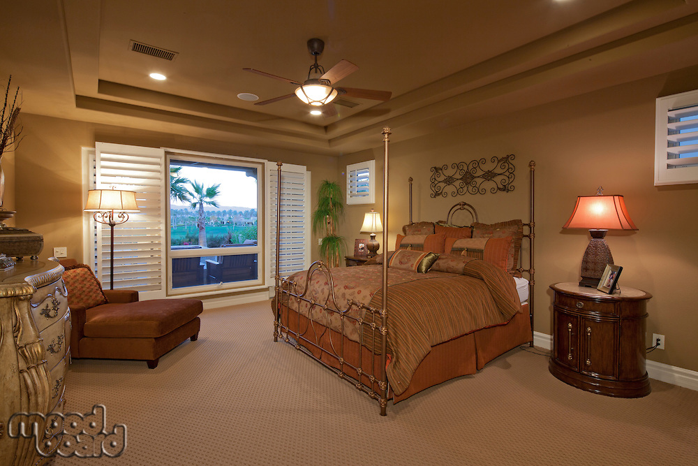 Bedroom interior of mansion