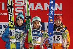 07.12.2013, Lysgardsbakken, Lillehammer, NOR, NOR, FIS Ski Sprung Weltcup, Lillehammer, Damen, im Bild von links: Daniela Iraschko-Stolz, Gianna Ernst, Sara Takanashi // von links: Daniela Iraschko-Stolz, Gianna Ernst, Sara Takanashi during the womens competition of FIS Skijumping World Cup at the Lysgardsbakken in Lillehammer, Norway on 2013/12/07  Lysgardsbakken in Lillehammer, Norway on 2013/12/07. EXPA Pictures © 2013, PhotoCredit: EXPA/ Sammy Minkoff