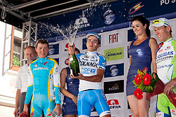 Winner POZZOVIVO Domenico of Colnago, second place for BRAJKOVIC Janez of Astana and third place for KOREN Kristijan of Liquigas during 3rd Stage (219 km) at 19th Tour de Slovenie 2012, on June 16, 2012, in Ivancna Gorica, Slovenia. (Photo by Matic Klansek Velej / Sportida.com)