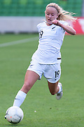 MELBOURNE, VIC - MARCH 06: Paige Satchell (19) of New Zealand controls the ball downfield during The Cup of Nations womens soccer match between New Zealand and Korea Republic on March 06, 2019 at AAMI Park, VIC. (Photo by Speed Media/Icon Sportswire)