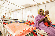 Hassania Issah, 30, and her son Souleyman Ali, 1, who is recovering from malnutrition, at a UNICEF-sponsored therapeutic feeding center at the Mongo hospital in the town of Mongo, Guera province, Chad on Tuesday October 16, 2012.
