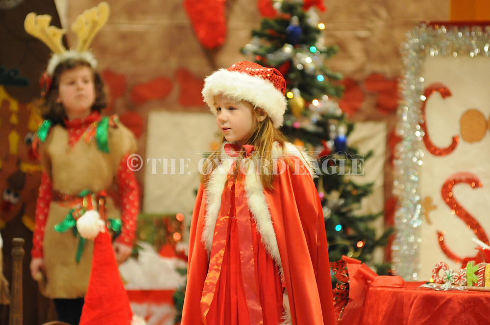 "Bramlett Elementary students perform a play ""That's Not Santa"" in Oxford, Miss. on Wednesday, December 14, 2011."