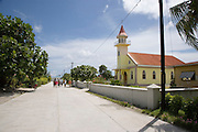 Church, Takapoto, Tuamotu Islands, French Polynesia<br />