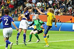 13.07.2011, Commerzbank Arena, Frankfurt, GER, FIFA Women Worldcup 2011, Halbfinale,  Japan (JPN) vs. Schweden (SWE), im Bild.Tor zum 2:1 durch Torjubel / Jubel  (M).. // during the FIFA Women´s Worldcup 2011, Semifinal, Japan vs Sweden on 2011/07/13, Commerzbank Arena, Frankfurt, Germany.   EXPA Pictures © 2011, PhotoCredit: EXPA/ nph/  Mueller       ****** out of GER / CRO  / BEL ******