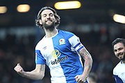 GOAL Charlie Mulgrew celebrates scoring 2-0  during the EFL Sky Bet League 1 match between Blackburn Rovers and Rochdale at Ewood Park, Blackburn, England on 26 December 2017. Photo by Daniel Youngs.