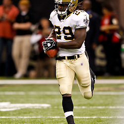 Oct 24, 2010; New Orleans, LA, USA; New Orleans Saints running back Chris Ivory (29) during warm ups prior to kickoff of a game against the Cleveland Browns at the Louisiana Superdome. Mandatory Credit: Derick E. Hingle