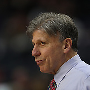 Doug Bruno, Head Coach of DePaul, during the UConn Vs DePaul, NCAA Women's College basketball game at Webster Bank Arena, Bridgeport, Connecticut, USA. 19th December 2014