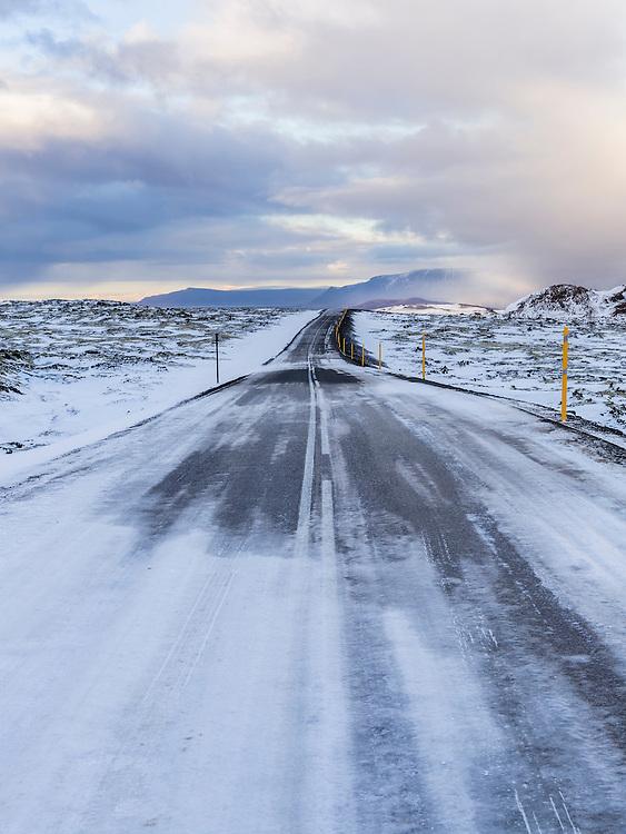 Road at Bjáfjöll