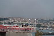 Turkey. Istambul. elevated view on the Golden Horn and the port. / la Corne d Or et le port vue d'en haut