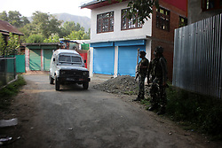 August 9, 2017 - Tral, Pulwama, Jammu and Kashmir, India - Three Rebels of Ansar Ghazwatul Hind killed during an Encounter in Gulabbagh village of Tral in Pulwama district. (Credit Image: © Muneeb Ul Islam/Pacific Press via ZUMA Wire)