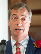 Brexit Party launch event<br /> Nigel Farage and Richard Tice, party chairman launch the next tranche of Brexit Party candidates at an event in London, Great Britain <br /> House Terrace<br /> 23rd April 2019<br /> <br /> New candidates standing for the Brexit Party in the European Parliament Elections in May 2019 <br /> <br /> <br /> Nigel Farage - party leader speaks <br /> <br /> New candidates are:<br /> <br /> Lance Forman <br /> Businessman and owner of H.Forman and Son <br /> <br /> Christina Jordan<br /> Former nurse and community leader <br /> <br /> Matthew Patten <br /> Charity Leader and CEO <br /> <br /> James Glancy <br /> Veteran and broadcaster <br /> <br /> Claire Fox<br /> Writer, free speech campaigner <br /> <br /> Photograph by Elliott Franks