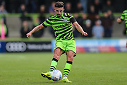 Forest Green Rovers Liam Shephard(2) passes the ball forward during the EFL Sky Bet League 2 match between Forest Green Rovers and Crawley Town at the New Lawn, Forest Green, United Kingdom on 5 October 2019.