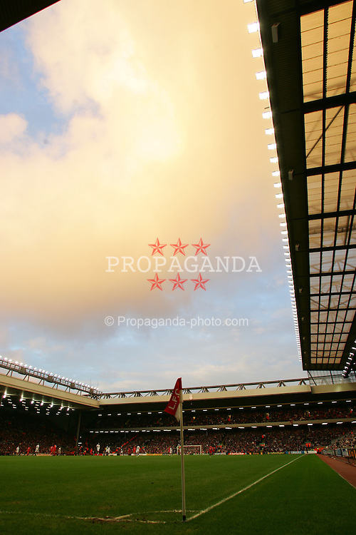 LIVERPOOL, ENGLAND - SATURDAY FEBRUARY 5th 2005: A general view of Liverpool's Anfield stadium during the Premiership match against Fulham. (Pic by David Rawcliffe/Propaganda)