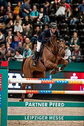 TWOMEY Billy (IRL), Kimba Flameco<br /> Leipzig - Partner Pferd 2019<br /> Longines FEI Jumping World Cup<br /> Qualifikation CSI-W<br /> 18. Januar 2019<br /> © www.sportfotos-lafrentz.de/Stefan Lafrentz