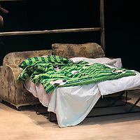 Yen by Anna Jordan;<br /> Directed by Ned Bennett;<br /> Bed in the set;<br /> Jerwood Theatre Upstairs, Royal Court, London, UK;<br /> 22 January 2016