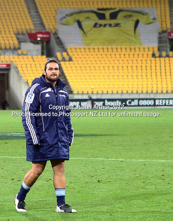 Blues' Piri Weepu during the 2012 Super Rugby season, Hurricanes v Blues at Westpac Stadium, Wellington, New Zealand on Friday 4 May 2012. Photo: Justin Arthur / photosport.co.nz