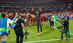 MADRID, SPAIN - SATURDAY, JUNE 1, 2019: Liverpool's manager Jürgen Klopp celebrates with his team after the UEFA Champions League Final match between Tottenham Hotspur FC and Liverpool FC at the Estadio Metropolitano. Liverpool won 2-0 to win their sixth European Cup. (Pic by David Rawcliffe/Propaganda)
