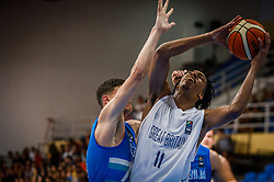 Evbuomwan  Tosan of Great Britain during basketball match between National teams of Great Britain and Slovenia in the Quarter-Final of FIBA U18 European Championship 2019, on August 1, 2019 in Nea Ionia Hall, Volos, Greece. Photo by Vid Ponikvar / Sportida