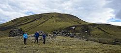 05-07-2014 NED: Iceland Diabetes Challenge dag 1, Landmannalaugar <br /> Vandaag ging de challenge van start. Met een bus gingen we van Vogar naar Landmannalaugar en zagen we de eerste tekenen van het prachtige landschap van IJsland / Annet, Tjebbe, Nick