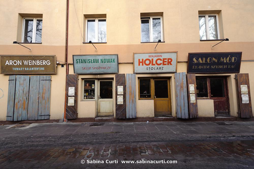 Storefront on Szeroka, Kasimierz jewish district, Krakow, Poland