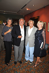 Left to right, JOHNNY & JAN GOLD, MICHAEL WINNER and his wife GERALDINE at a private view of work by Sacha Newley entitled 'Blessed Curse' in association with the Catto Gallery held at the Arts Club, Dover Street, London W1 on 2nd July 2008.<br /><br />NON EXCLUSIVE - WORLD RIGHTS
