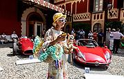 Como, Italy, Concorso d'Eleganza Villa D'Este, from left Maserati 250F, Alfa Romeo 33/2 Stradale