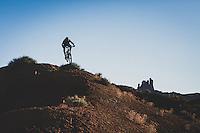 Ben Duke riding near Castle Valley, Utah.