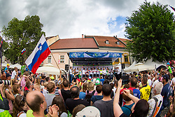 Best team of UAE Team Emirates at trophy ceremony during 5th Stage of 26th Tour of Slovenia 2019 cycling race between Trebnje and Novo mesto (167,5 km), on June 23, 2019 in Slovenia. Photo by Matic Klansek Velej / Sportida