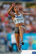 Ana Peleteiro, Spain, Women's triple jump, during the Diamond League Meeting at Stade Charlety, Paris, France on 24 August 2019.