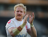 James Graham of England Rugby League celebrates the 18-16 win over New Zealand at Full Time during the Autumn International Series match at the KCOM Stadium, Hull<br /> Picture by Stephen Gaunt/Focus Images Ltd +447904 833202<br /> 27/10/2018