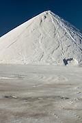 Large piles of salt at Sea water salt plant, Torrevieja, Alicante, Spain, Europe