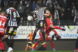 December 1, 2017 - France - CHARLEROI, BELGIUM - DECEMBER 1 : Mamadou Fall midfielder of Sporting Charleroi, Aleksandar Bjelica defender of KV Oostende (Credit Image: © Panoramic via ZUMA Press)