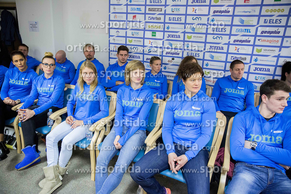 Snezana Rodic Vukmirovic, Sabina Veit, Marusa Mismas, Tina Sutej, Martina Ratej and Robert Renner  during press conference when Slovenian athletes and their coaches sign contracts with Athletic federation of Slovenia for year 2016, on February 25, 2016 in AZS, Ljubljana, Slovenia. Photo by Vid Ponikvar / Sportida