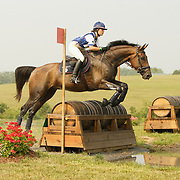 Nina Ligon (USA) and Pacific Storm at the 2007 CN North American Junior and Young Riders' Championships held at the Virginia Horse Center in Lexington, Virginia