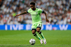Raheem Sterling of Manchester City in action - Mandatory byline: Rogan Thomson/JMP - 04/05/2016 - FOOTBALL - Santiago Bernabeu Stadium - Madrid, Spain - Real Madrid v Manchester City - UEFA Champions League Semi Finals: Second Leg.
