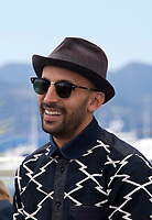 Photographer and Director JR at the Visages, Villages film photo call at the 70th Cannes Film Festival Friday 19th May 2017, Cannes, France. Photo credit: Doreen Kennedy
