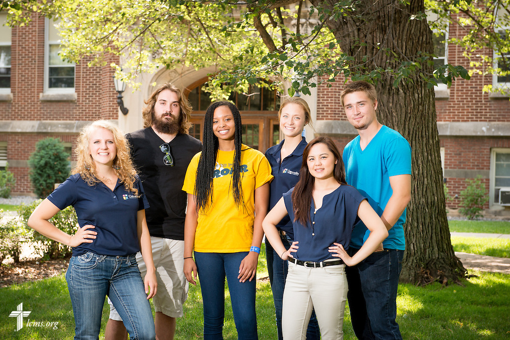 A portrait of students at Concordia University, Saint Paul, on Wednesday, August 6, 2014, in St. Paul, Minn.   LCMS Communications/Erik M. Lunsford