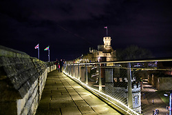 The observatory tower at Lincoln Castle lit up at night during the 2019 Lincoln Christmas Market.<br /> <br /> Picture: Chris Vaughan Photography<br /> Date: December 6, 2019