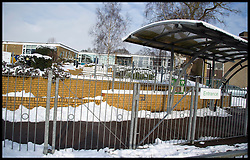 Ivy Chimneys Primary school in Essex is closed  after heavy Snowfall over the last few days, Monday January 21, 2013. Photo: Andrew Parsons / i-Images