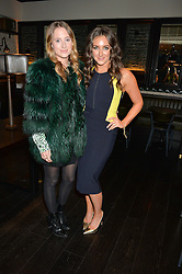 Left to right, ROSIE FORTESCUE and NATASHA CORRETT at a party to celebrate the publication of Honestly Healthy Cleanse by Natasha Corrett held at Tredwell's Restaurant, 4a Upper St.Martin's Lane, London on 14th January 2015.