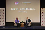 The WSJ Plus and WTA Interview with Billie Jean King and Michael Lynagh in New York City on August 23, 2017. (photo by Gabe Palacio)