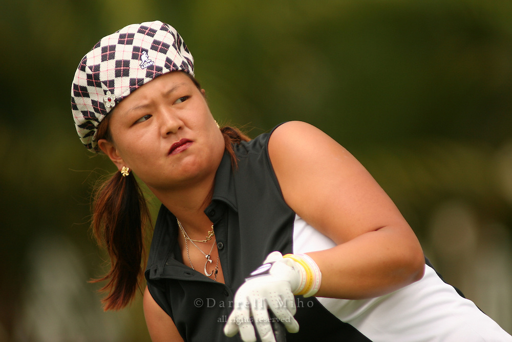 Feb 24, 2006; Kapolei, HI, USA; Christina Kim watches her tee shot during the 2nd round of the LPGA Fields Open at Ko Olina Resort...Photo Credit: Darrell Miho.Copyright © 2006 Darrell Miho