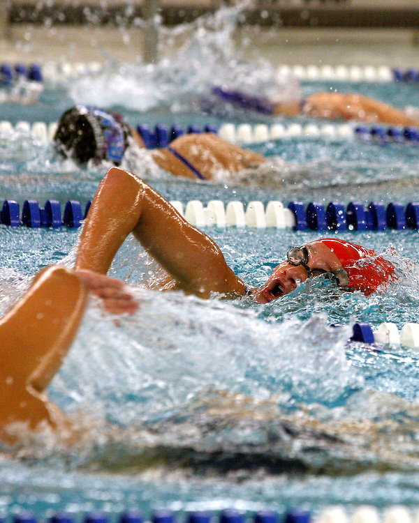 Panama's Paige Turcotte competes and wins the 200 free style girls swimming competion against Frewsburg 9-27-12 photo by Mark L. Anderson